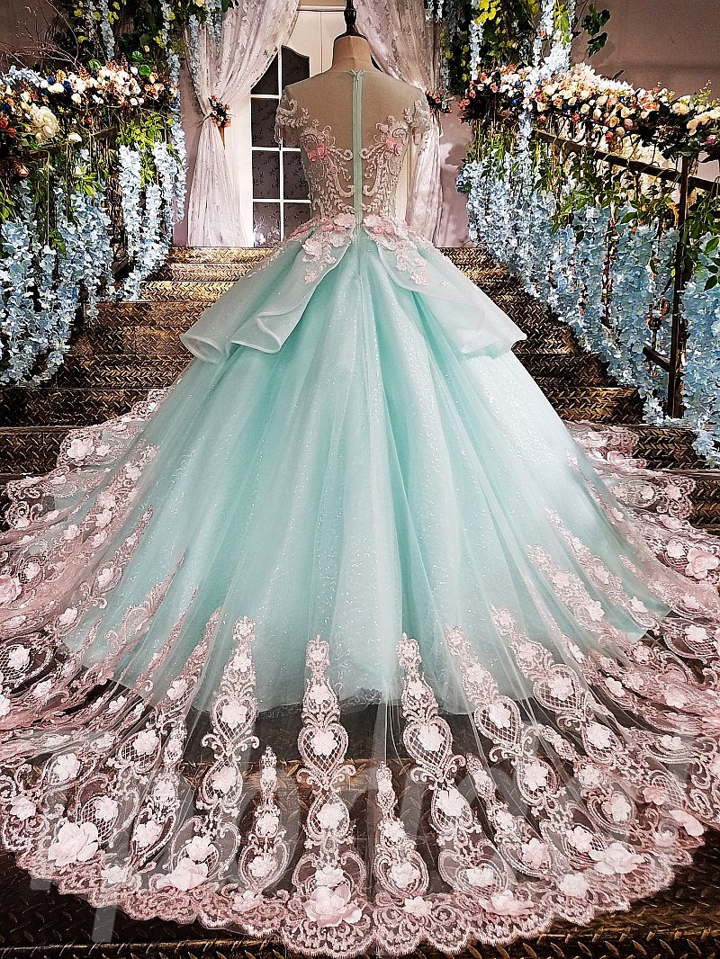 Light Blue Prom Dress A-Line Princess Evening Gown Online
