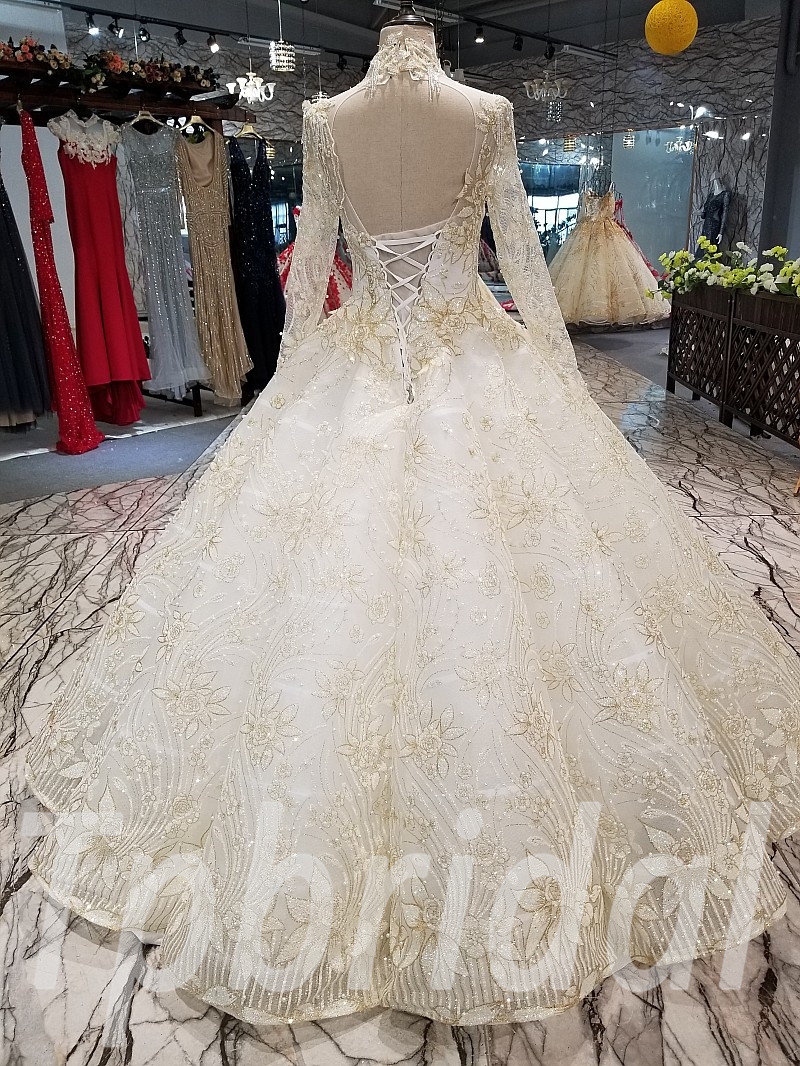 311ef4d6831a9 Ball Gown Dress White And Gold - PostParc
