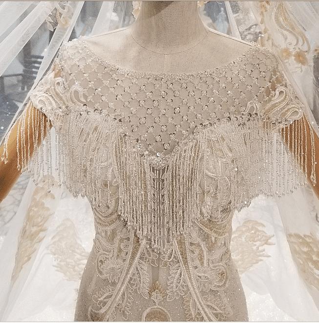 Mermaid Wedding Gown Bling Crystal Custom Made Bridal Dress