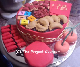 Chinese New Year Treat Box Cake: Custom Order Ask For a Quote Now