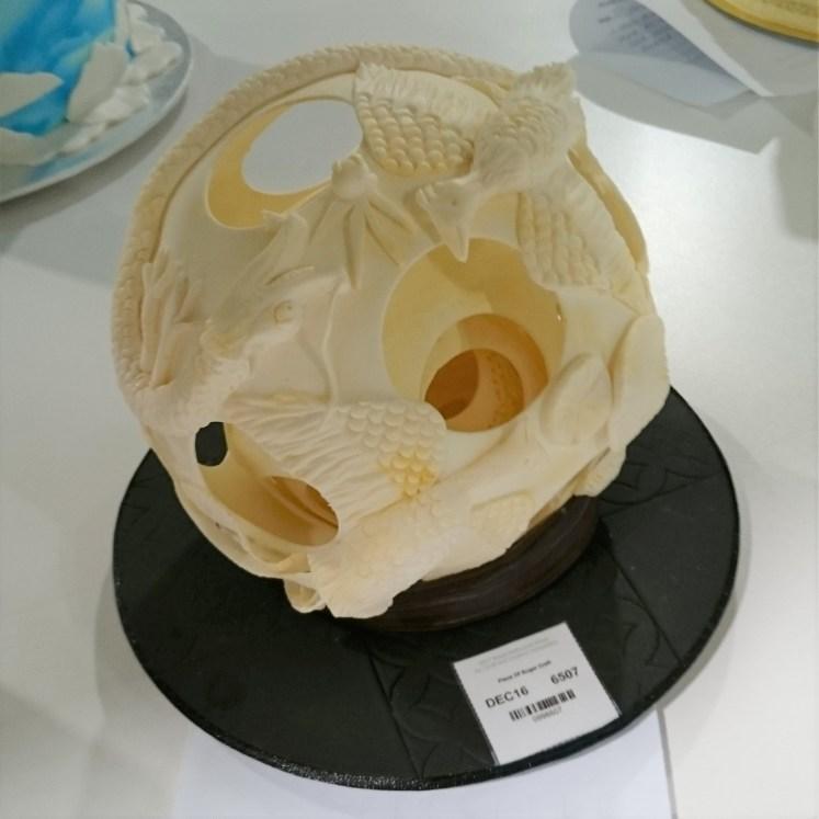 Ivory Ball Sugar Sculpture