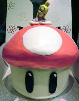 Peach Mushroom Cake