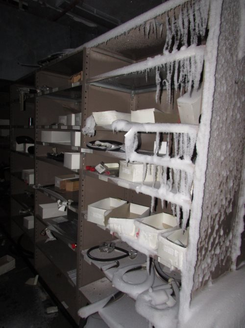 Orderly racks of spare parts