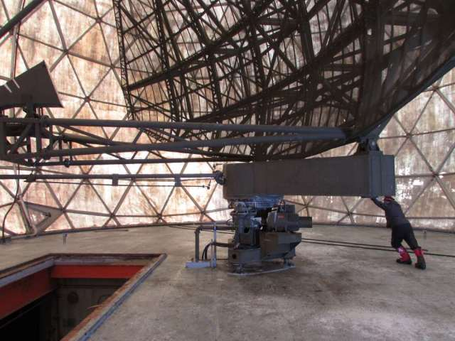 Inside the radome…push to spin
