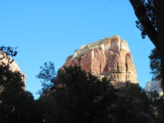 Angels Landing as seen from the Grotto
