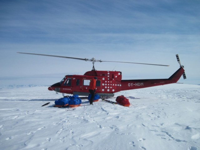Drop-off point on the icecap