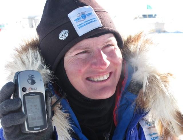 Meagan at South Pole