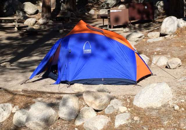 My Tent Site at Whitney Portal Campground