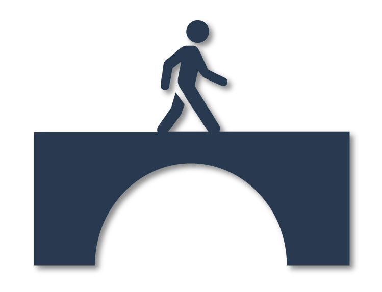Image of a person on a bridge.