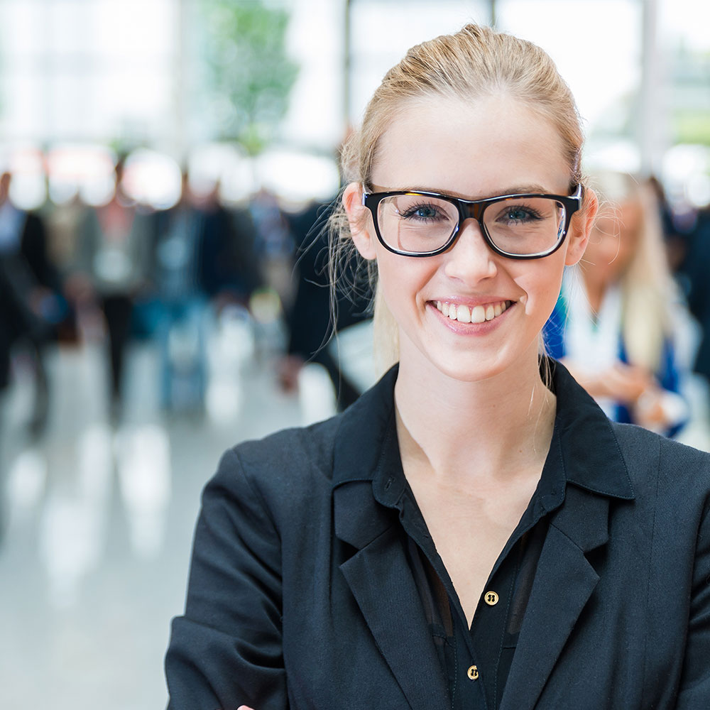 Picture of a smiling female employee.