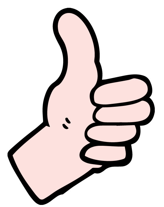 clip art of a hand giving the thumbs up gesture