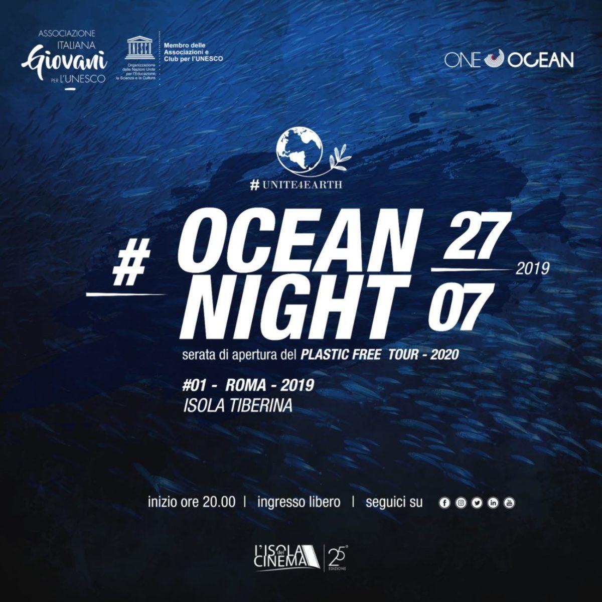 Ocean night una serata per il plastic free Tra gli