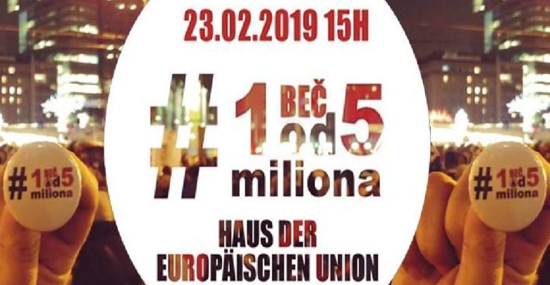 """Photo of PROTESTI I U BEČU: I u Austriji protestna šetnja """"1 od 5 miliona""""!"""