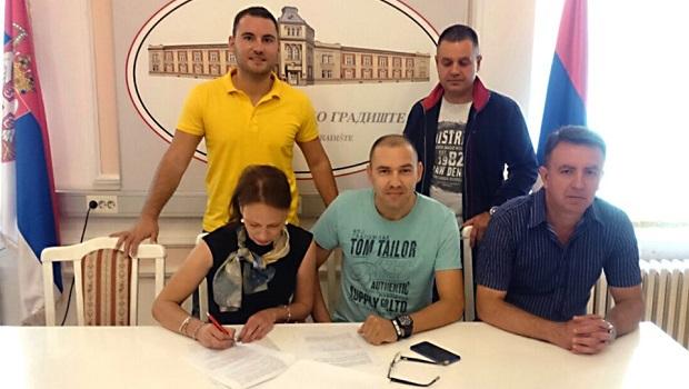 """Photo of Potpisan Sporazum o saradnji između Sportskog saveza Veliko Gradište i Humanitarne organizacije """"Srbija velikog srca"""""""