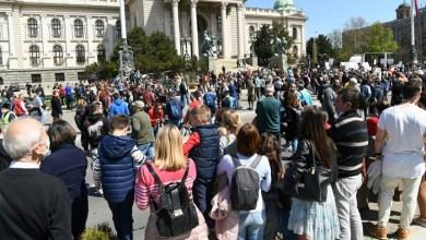 """Photo of ISPRED SKUPŠTINE: Počeo """"Ekološki ustanak"""" u Beogradu (VIDEO)"""