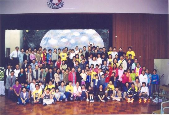 大埔堂首次在學校舉行主日崇拜。(2003/2004學年)