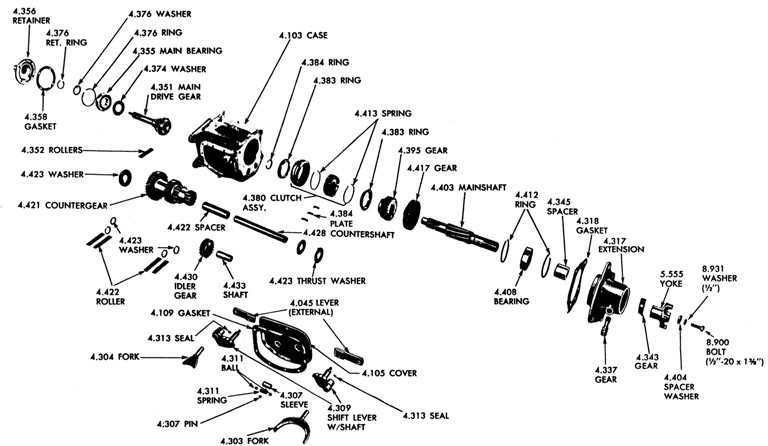 Chevy Manual Transmission Parts Diagram. Chevy. Auto