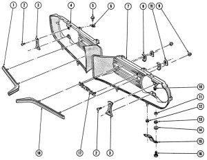 196768 Firebird Grilles Illustrated Parts Break Down