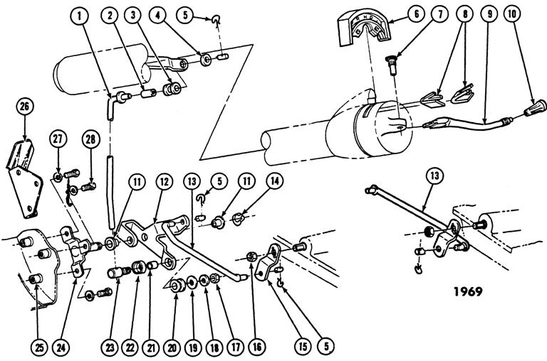 1967-69 Firebird Auto Trans. Column Shifter Linkage