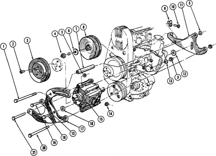 1967 Firebird 6 Cyl. Air Injection Pump Installation