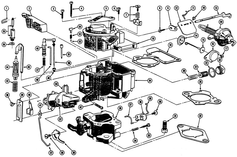 1968-72 6 Cyl. GM Mono Jet Carburetor Illustrated Parts