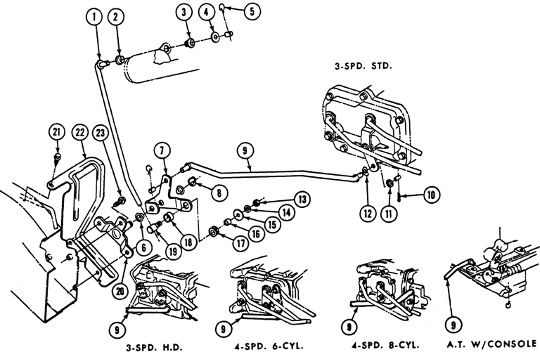 1969 1971-72 Pontiac Steering Column Lock Controls