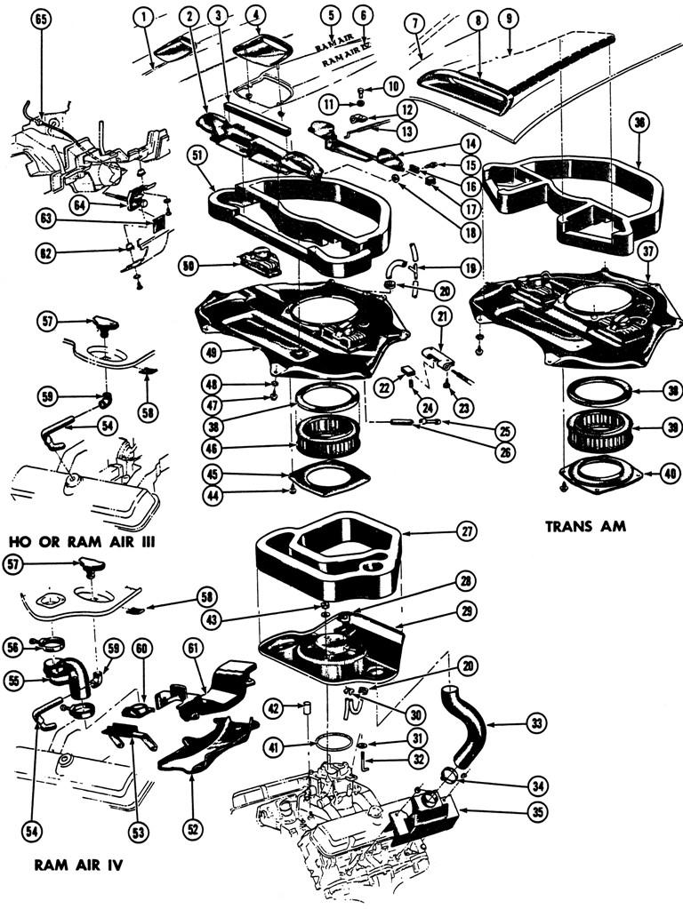 1969 Firebird Ram Air Illustrated Parts Break Down