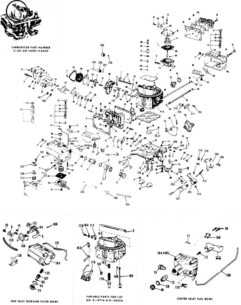 Holly Carburetor Models 3160 & 4160 Illustrated Parts