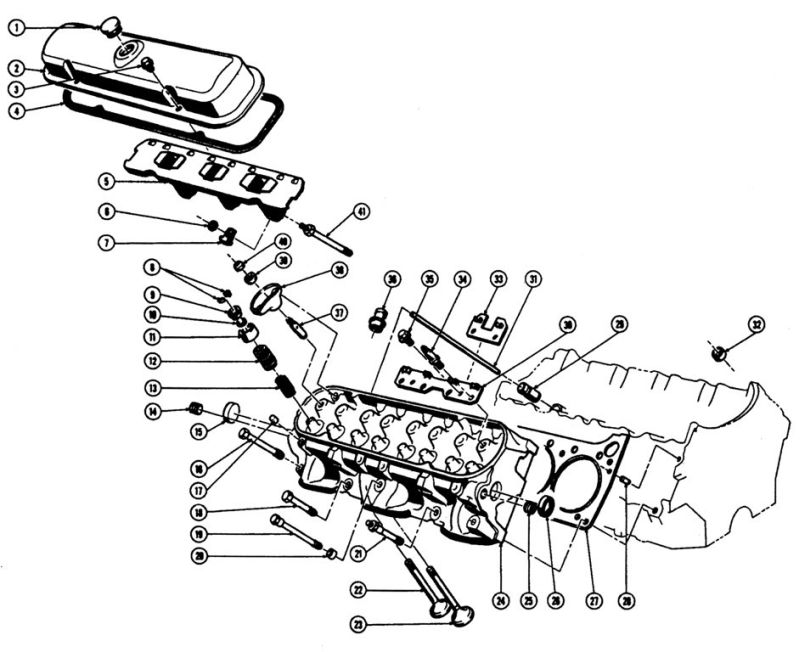 1967-75 Pontiac V8 Cylinder Head Illustrated Parts