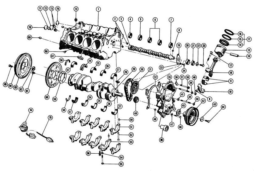 1967-75 Pontiac V8 Engine Block