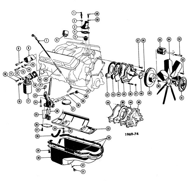 1967-75 Pontiac V8 Engine Cooling-Oil