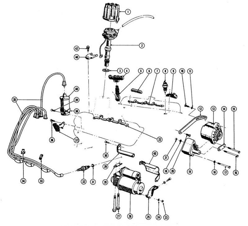 1967-75 Pontiac V8 Engine Electrical