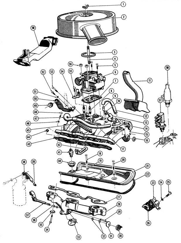 1967-75 Pontiac V8 Engine Fuel-Exhaust