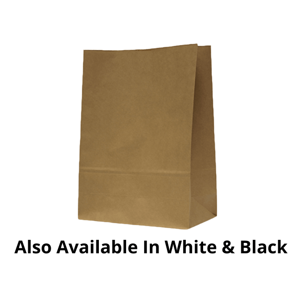 Plain No Handle Paper Bags - 100 Pieces