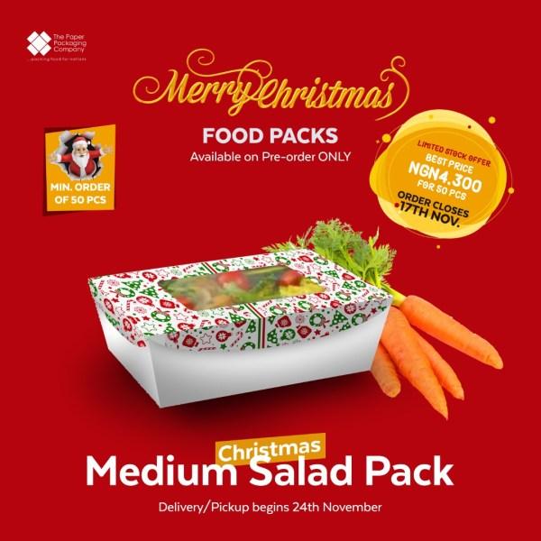 Christmas Medium Salad Pack (50 Pieces)