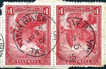 King River type 1 circular date stamp
