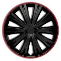 wieldoppen 15 inch Giga R   zwart/rood