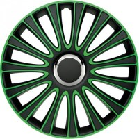 wieldoppen 16 inch LeMans | zwart/groen