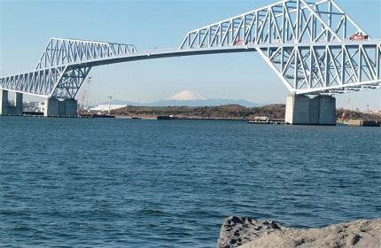 ゲートブリッジ側からは富士山が見えることもあります