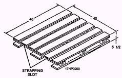 Standard Four-Way Wood Pallet
