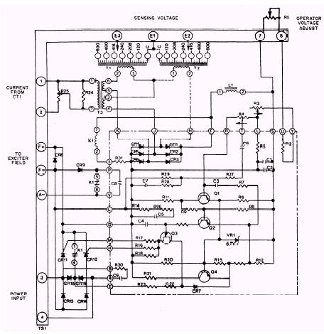 Ac Automatic Voltage Regulator Circuit Diagram