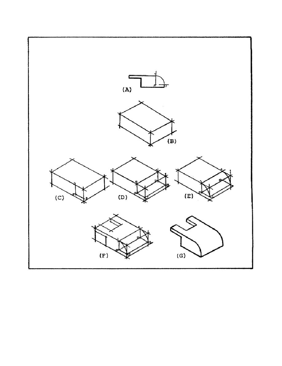 Figure 51. Solution to Isometric Drawing Problem Using an