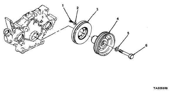 5-9. VIBRATION DAMPER AND V-BELT PULLEY REPLACEMENT.