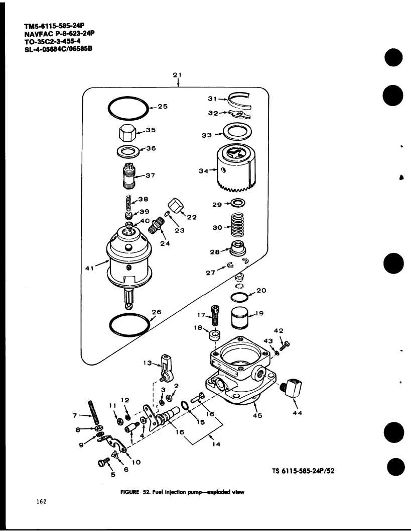 FIGURE 52. Fuel injection pump-exploded view