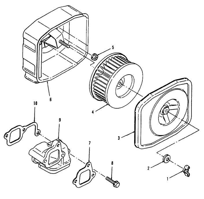 Figure 4-23. Air Cleaner, Filter Element, and Air Intake