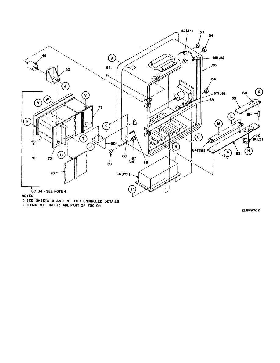 Figure 1. Control, remote switchboard C-10333/TTC-39