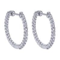 Gabriel Fashion 14 Karat Hoops Hoop Earrings EG10861W45JJ ...