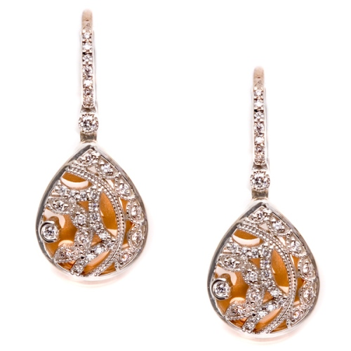 Tacori Diamond Earrings Platinum Fine Jewelry FE624