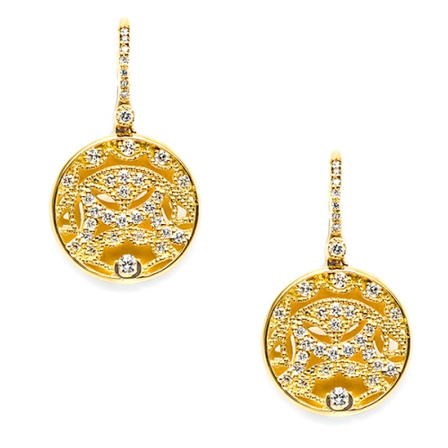 Tacori Diamond Earrings Platinum Fine Jewelry FE661Y