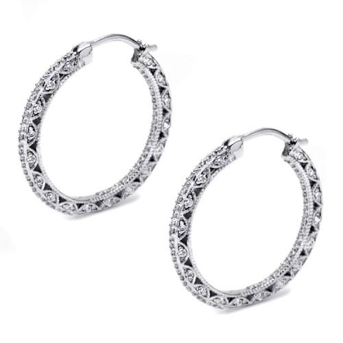 Tacori Diamond Earrings Platinum Fine Jewelry FE596